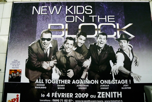 New Kids On The Block à Paris