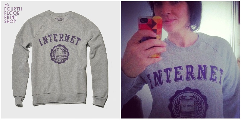 sweat gris internet