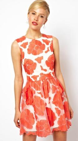 tenue robe mariage asos fleur orange