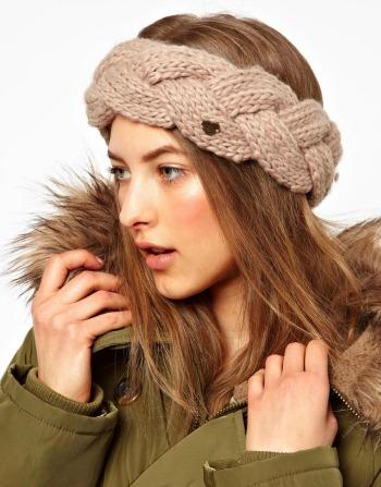 bandeau laine femme tresse barts