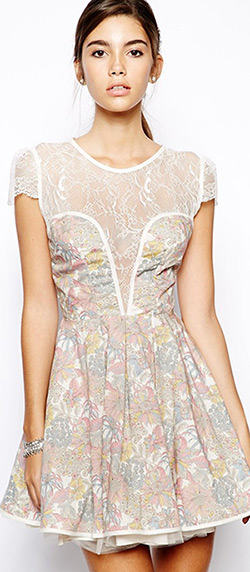 Robe asos printemps liberty dentelle