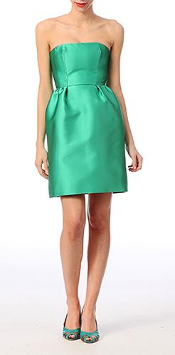 robe-bustier-verte-mariage