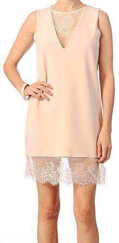 robe droite mariage rose poudree - Robe Rose Poudre Mariage