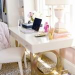 Une décoration blanche et or…