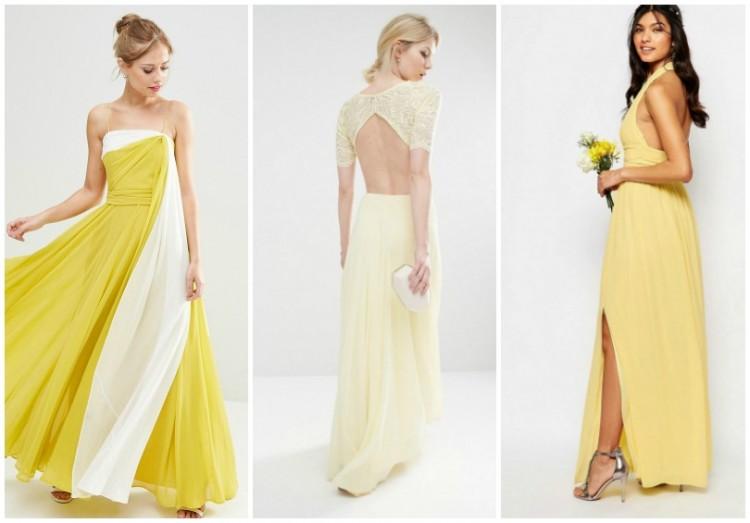 Belle pour une robe jaune
