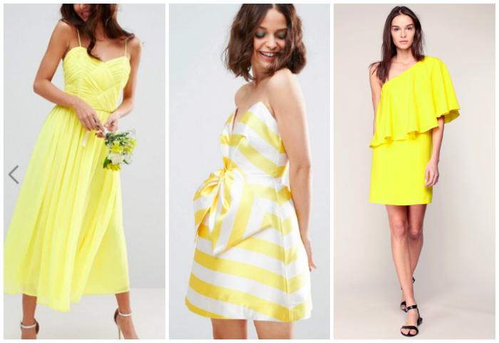 Robe jaune mariage printemps