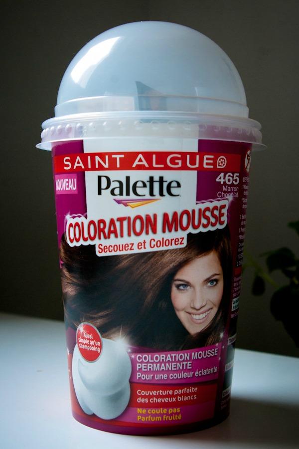 Testons la coloration mousse palette de saint algue larcenette - Coloration marron chocolat ...