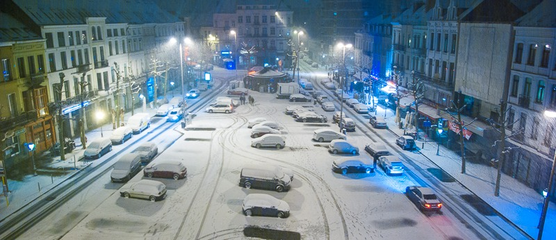 bruxelles neige