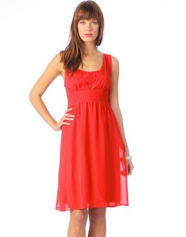 robe vero moda rouge
