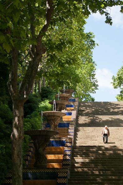 barcelone-montjuic-escaliers