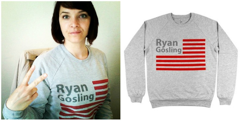sweat gris ryan gosling