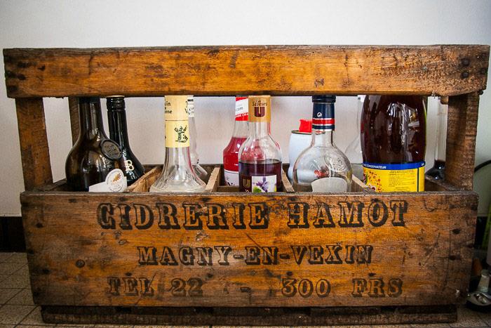 caisse bouteille cidrerie hamot vintage