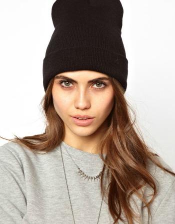 bonnet noir femme street