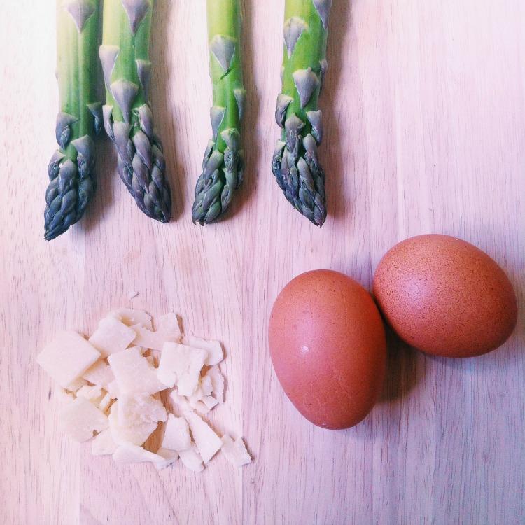 oeuf cocotte parmesan asperges