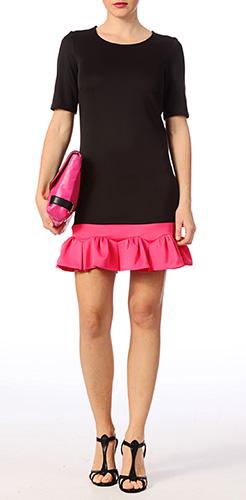 robe-mariage-noir-rose-brigitte-bardot
