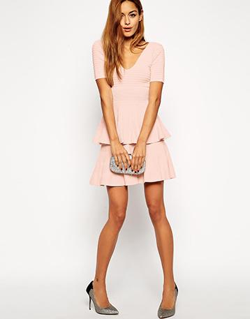 robe-rose-mariage-courte