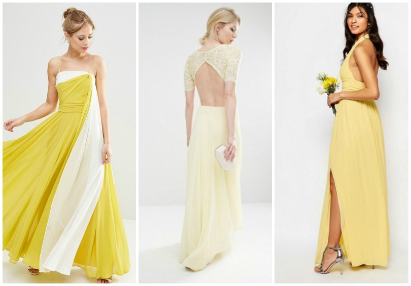 robe longue mariage jaune larcenette. Black Bedroom Furniture Sets. Home Design Ideas
