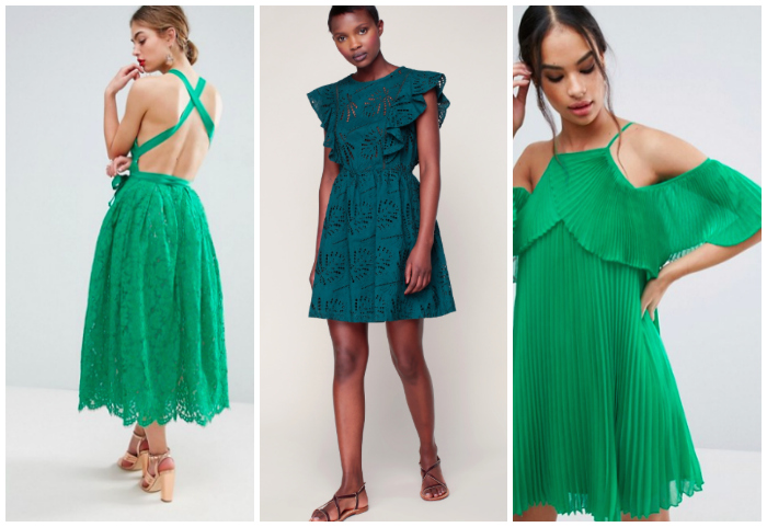 robe invitee vert mariage printemps larcenette. Black Bedroom Furniture Sets. Home Design Ideas