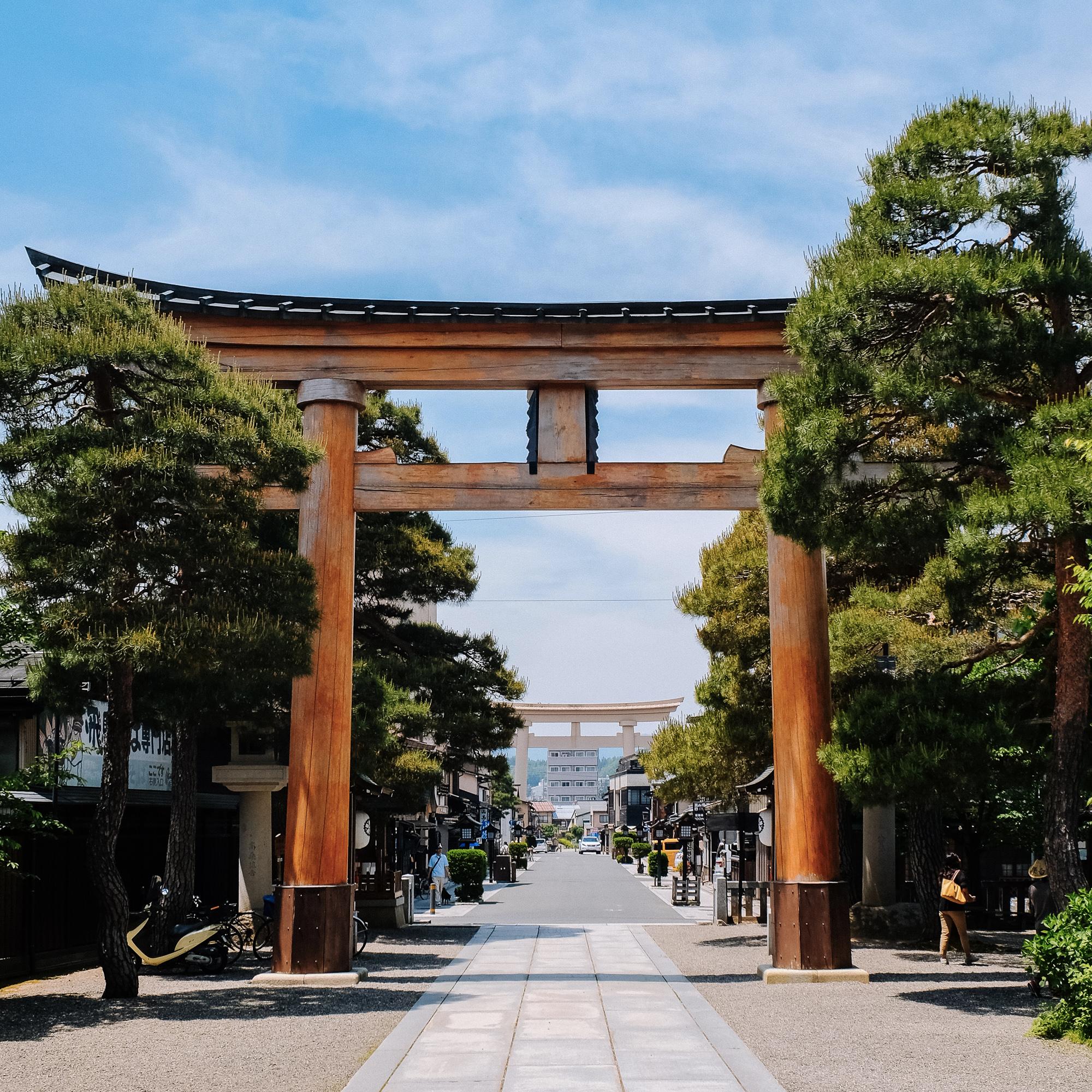 Torii temple Sakurayama Hachimangu