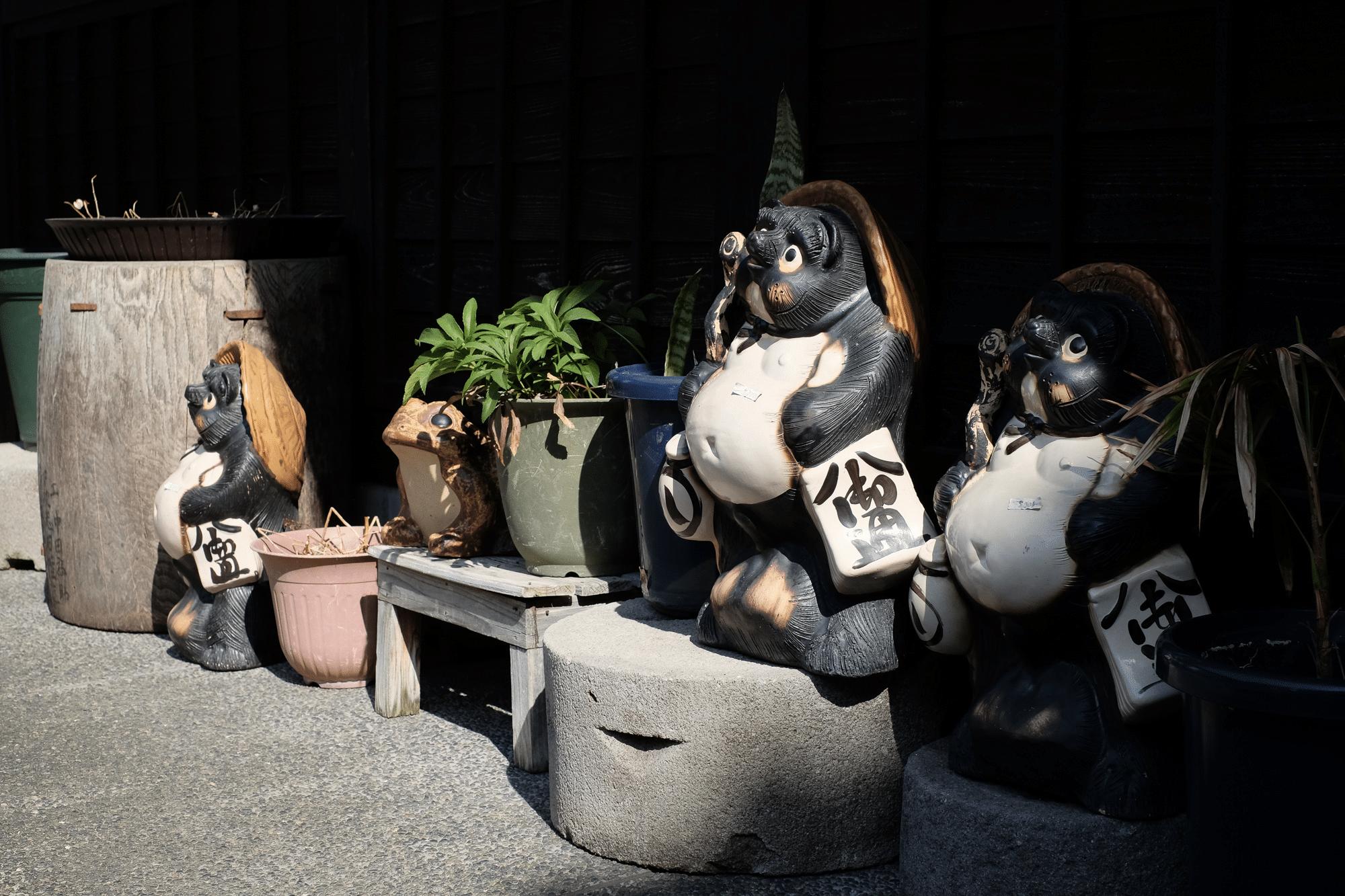 Tanukis à Takayama